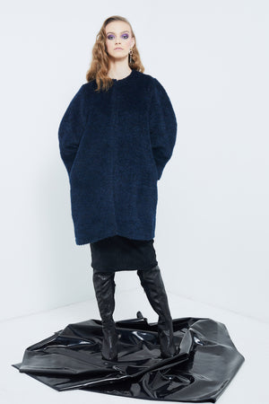 Blue Key Coat | Midnight Fur