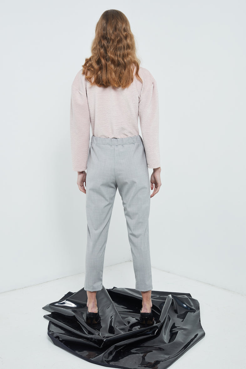 Work Pants | Grey Wool Suiting