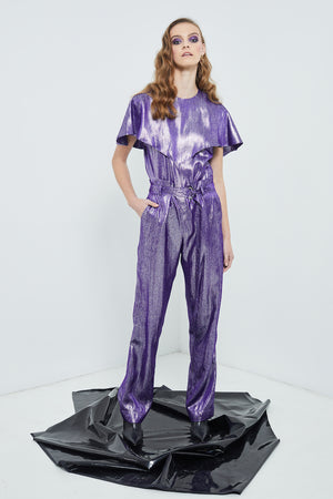Neo-Noir Suit Pants | Purple Cosmic Suiting