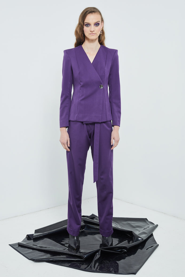 Neo-Noir Suit Pants | Purple Suiting