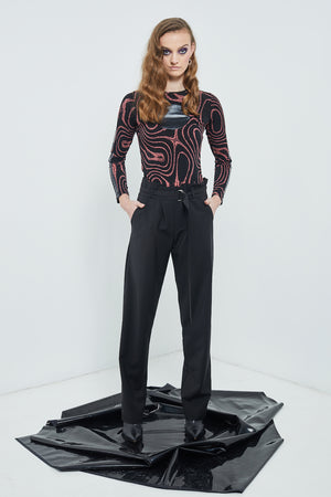 Neo-Noir Suit Pants | Black Suiting