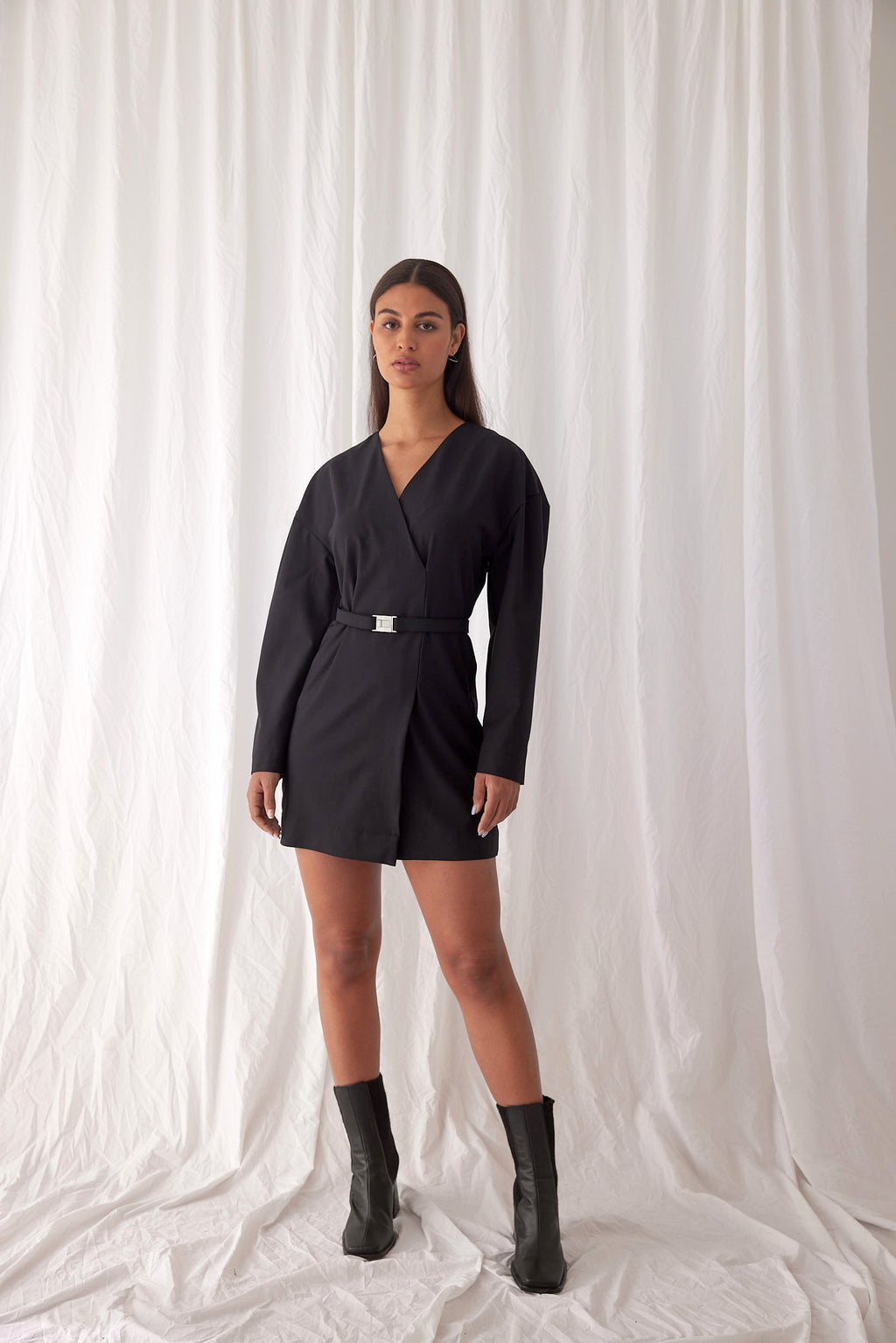 Modernist Mini Dress | Black