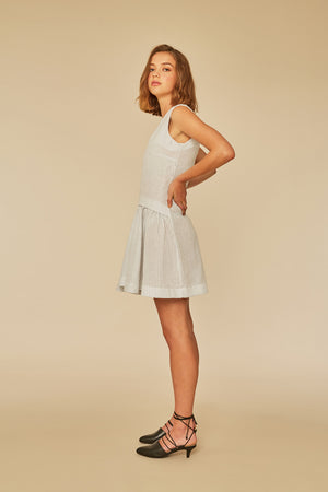 Party Dress | Blue Stripe