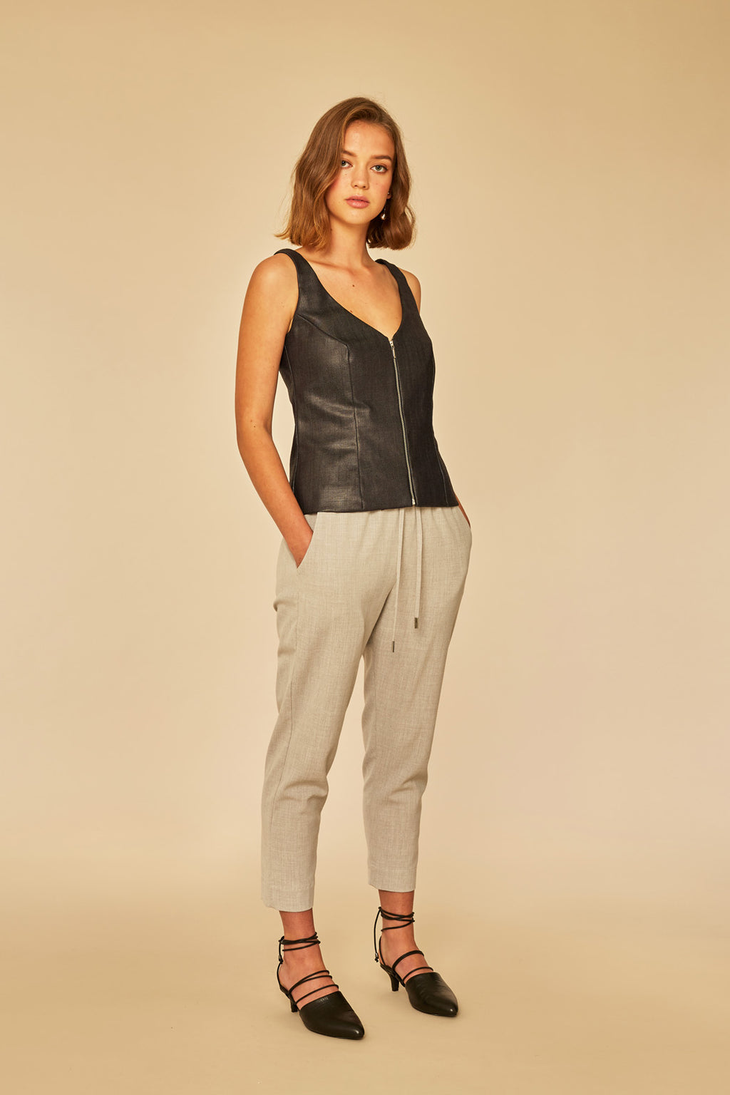 Get-Away Zip Front | Slippery Denim