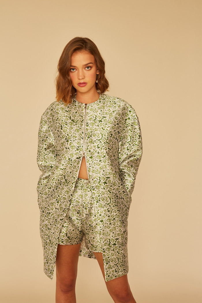Memory Palace Jacket | Green Garden