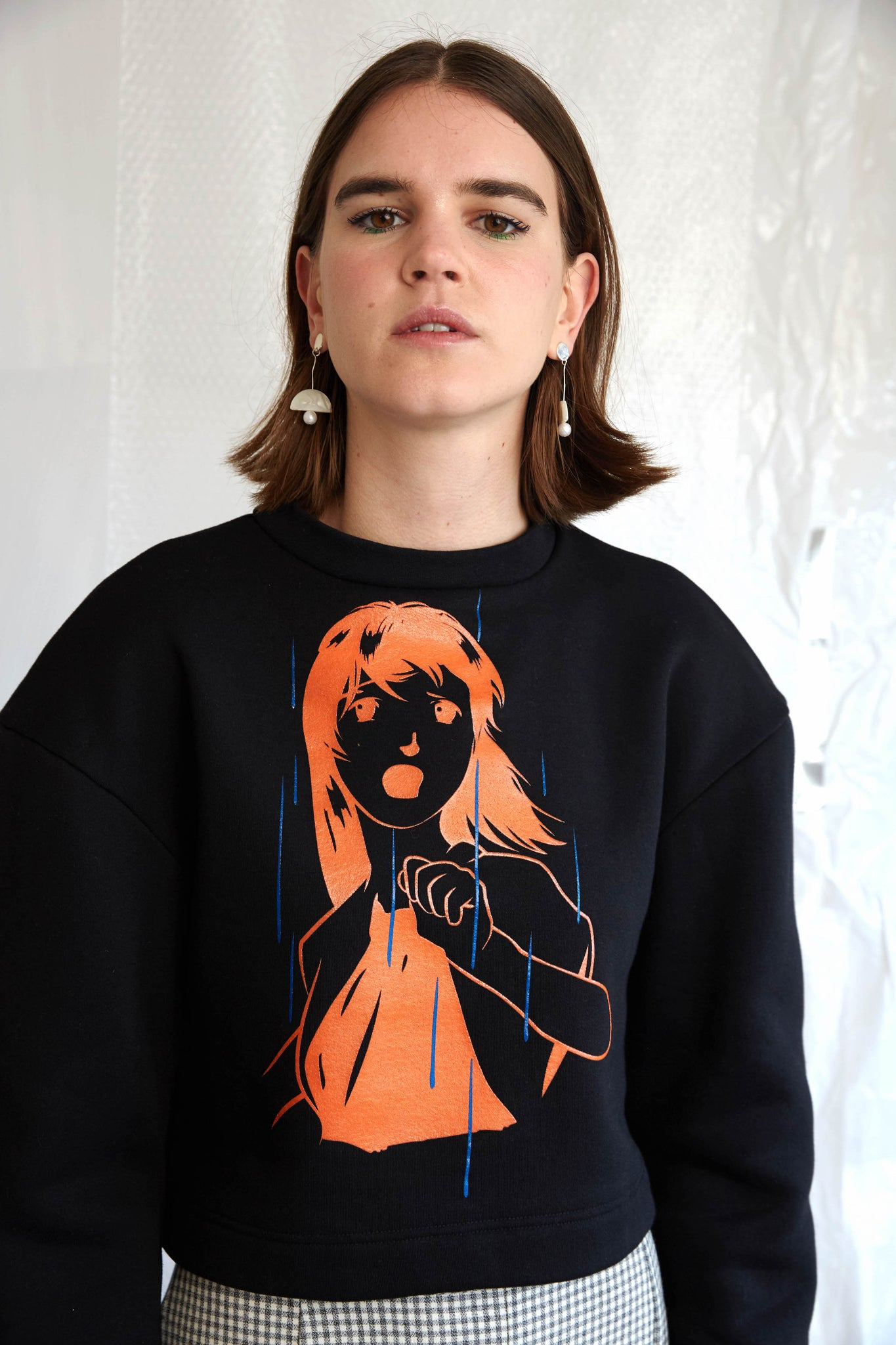 Escape Print Sculpted Sweatshirt | Black