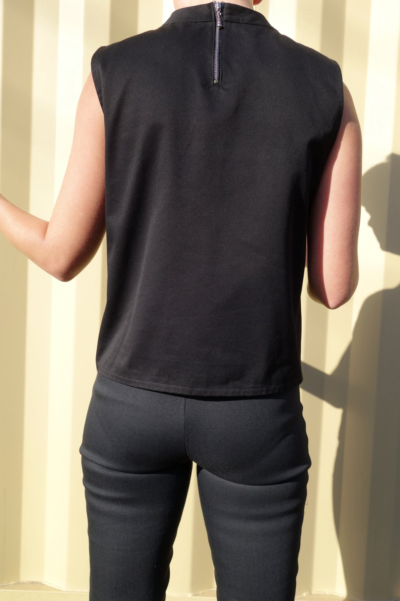 Maserati Sleeveless Top | Black Denim