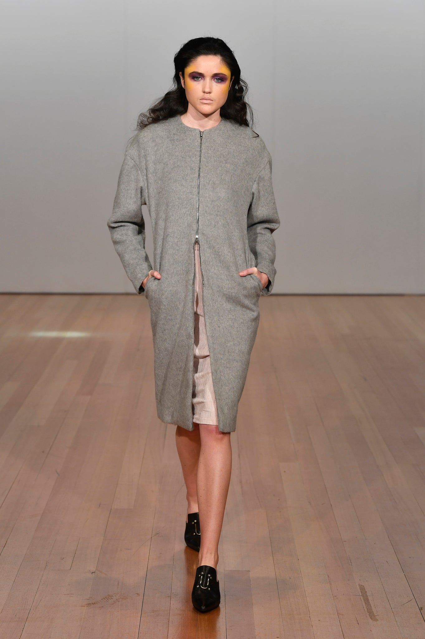Mulholland Coat | Grey Wool Coating