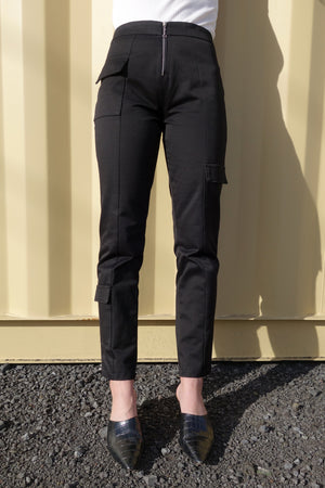 Accelerator Cropped Jeans | Black Denim