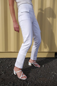 Accelerator Cropped Jeans | White Denim