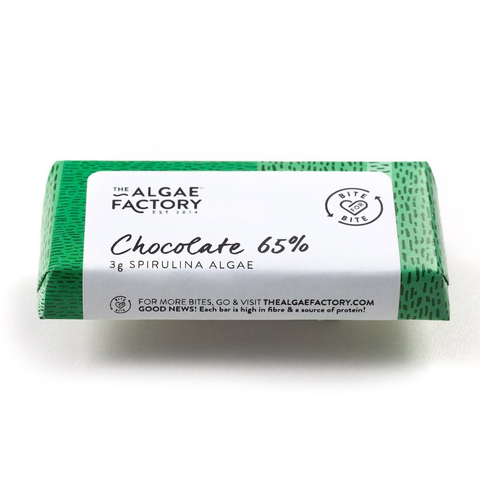 TAF - BARS Dark Chocolate 65% with Spirulina