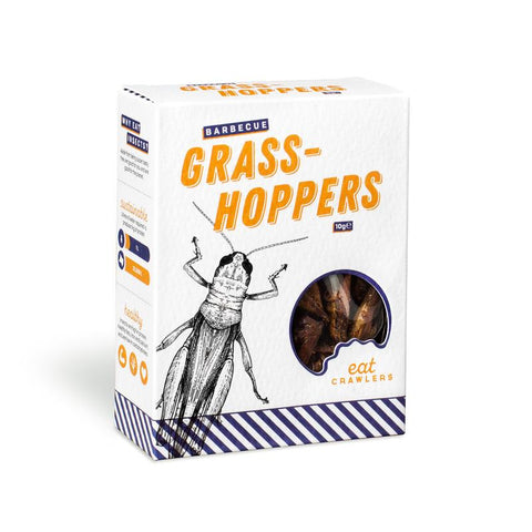 Eat Crawlers Edible BBQ Grasshoppers