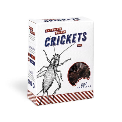 Eat Crawlers Chocolate Coated Crickets