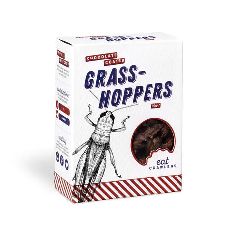 Eat Crawlers Chocolate Coated Grasshoppers