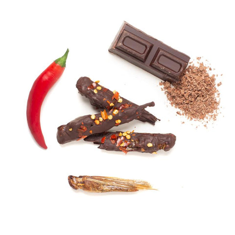Eat Crawlers Chili Chocolate Locusts
