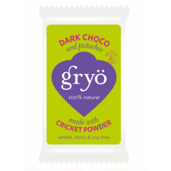 Gryo Bar Dark Choco & Pistachio - Insect Powder