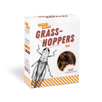 Eat Crawlers Lightly Salted Grasshoppers