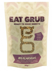 Eat Grub - EDIBLE MEALWORMS - BAG 20gr