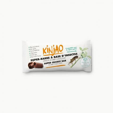 KINJAO - Protein bar with double chocolate flavored crickets