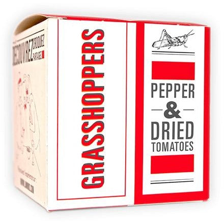 JIMINI'S GRASSHOPPERS - PEPPER & DRIED TOMATOES