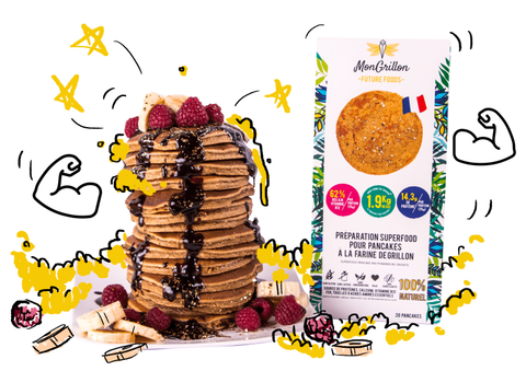 MONGRILLON - PANCAKES SUPERFOOD cricket flour - 200 gr