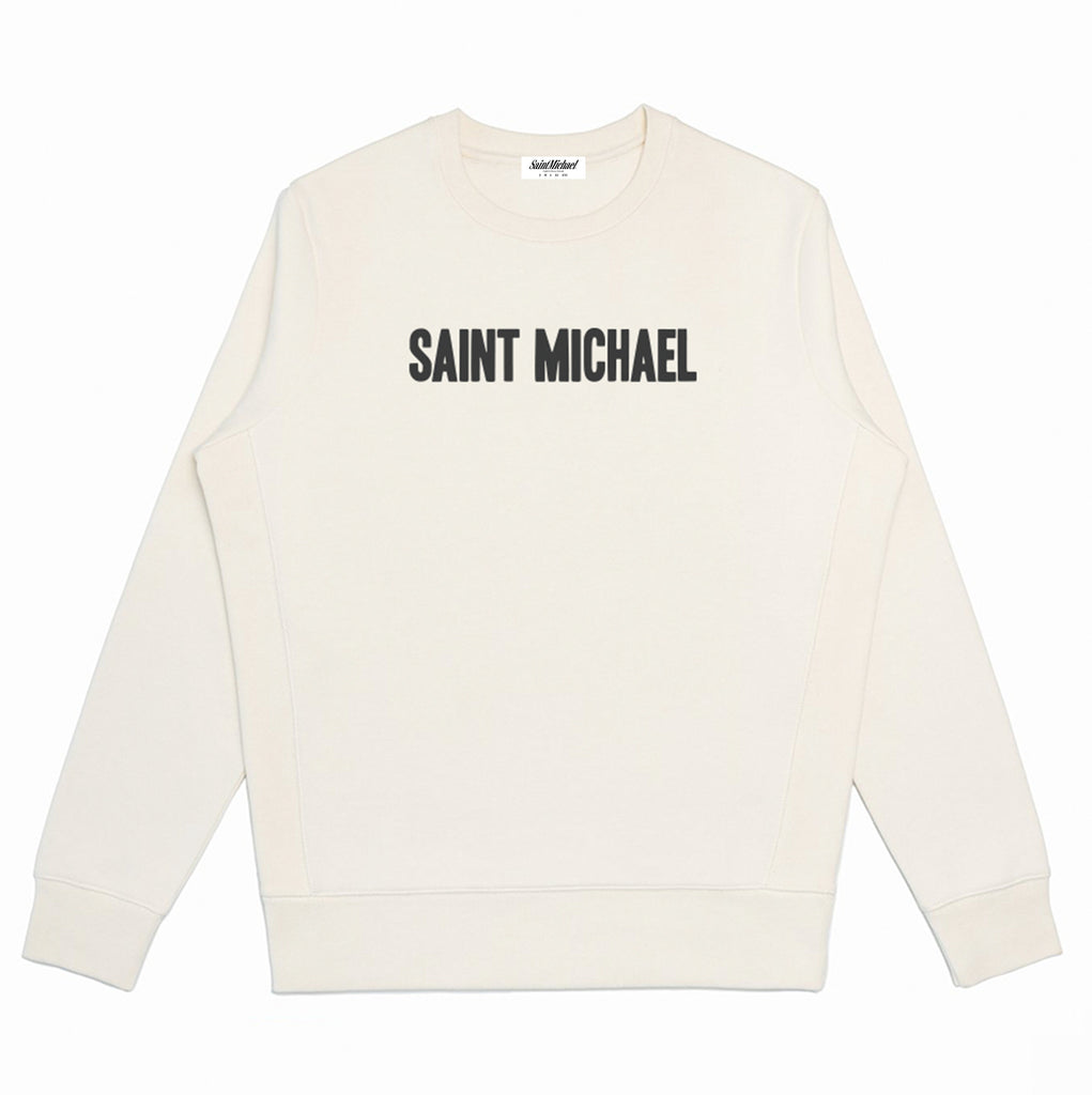 Bone Embroidered Supima Sweatshirt