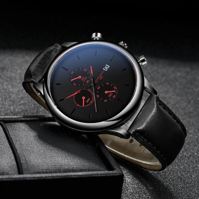 Wine Leather Watch (Buy 1 TAKE 1)