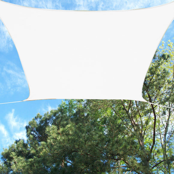 Quictent Woven 16.5' Square Sun Shade Sail-Ivory