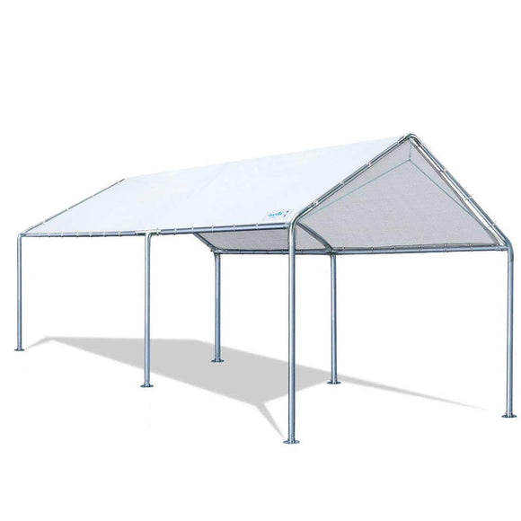 Quictent 10'x20'Carport Upgraded Heavy Duty Car Canopy Party Tent Shelter Tent -White