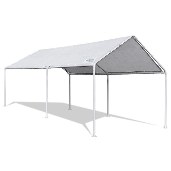 Quictent 20'X10' Heavy Duty Carport Waterproof Anti UV Gray Cover