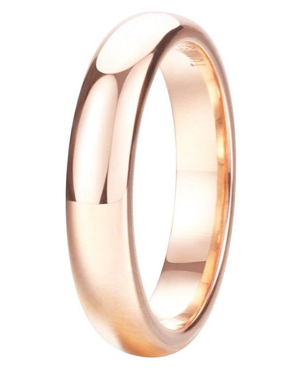 King Will GLORY 4mm Tungsten Ring Rose Gold Plated Wedding Band R248