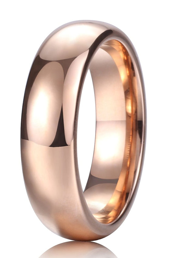King Will GLORY 6mm Tungsten Ring Rose Gold R247