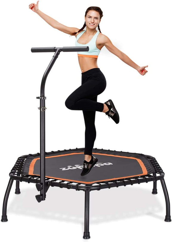 Zupapa Fitness Trampoline with Adjustable Handrail Bar ââââââââââââ'?Hexagon