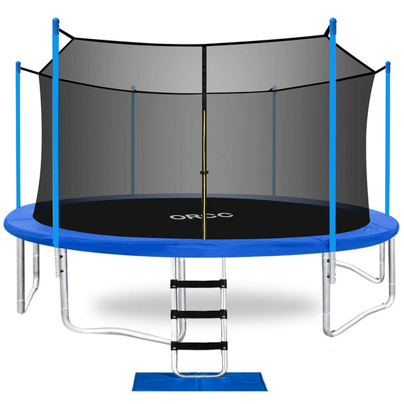 ORCC Upgraded 15' Trampoline with Safety Enclosure In-Net