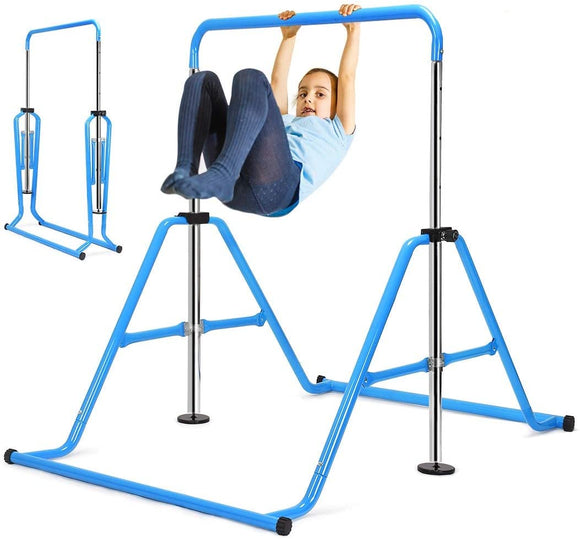 Zupapa Adjustable Gymnastic Bar With Triangular Frame-Blue
