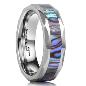 King Will NATURE 6mm Silver Tungsten Ring Unisex Wedding Band R078