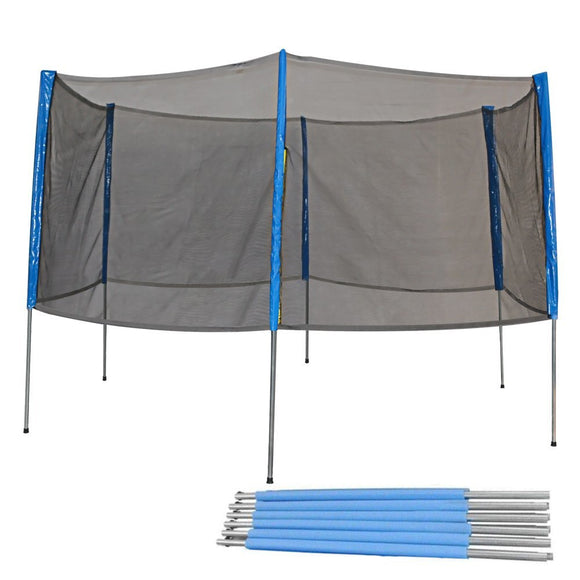 Zupapa 15FT Trampoline Replacement Safety Net Enclosure and Poles Set