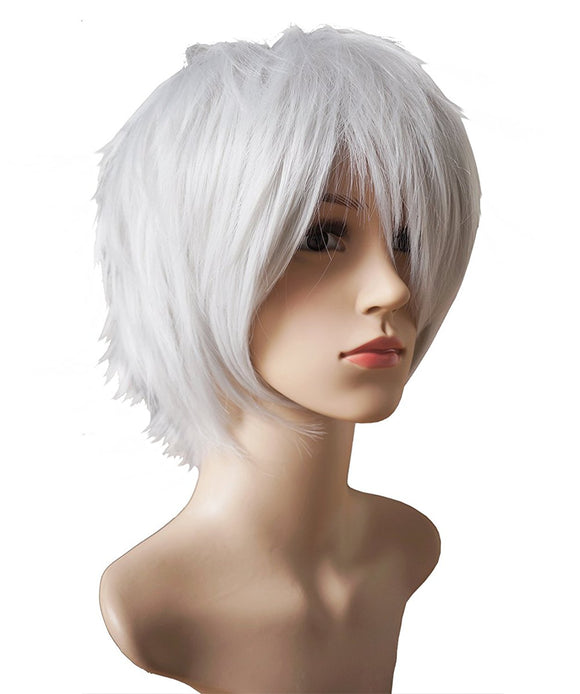 AnotherMe Anime Cosplay Layered Short Straight Hair Natural Wig Heat Resistant Fiber Party
