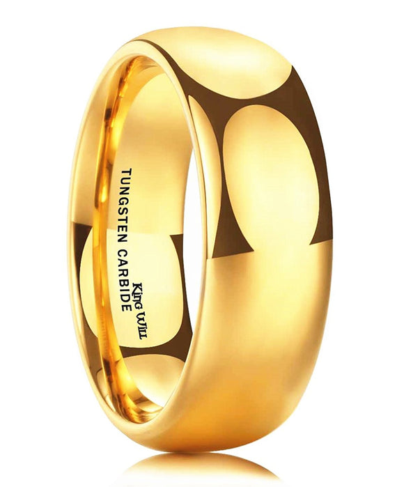 King Will GLORY Men's 8mm 24k Gold Plated Wedding Band R233