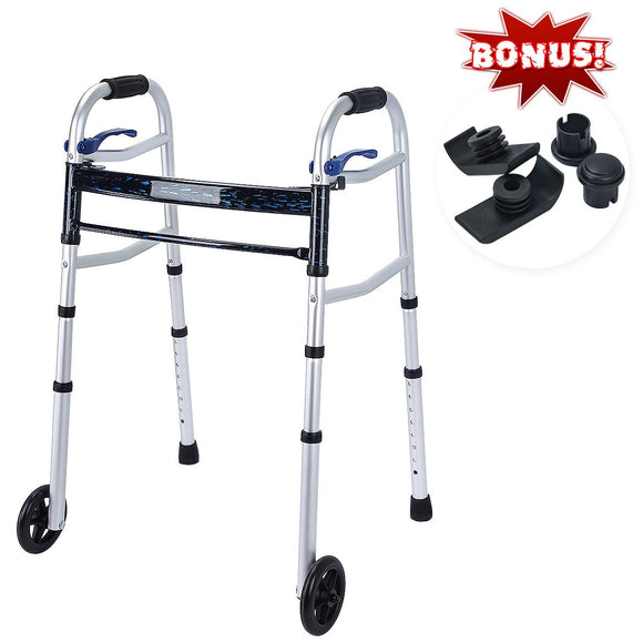 Trigger Release Aluminium Folding Walker with 5