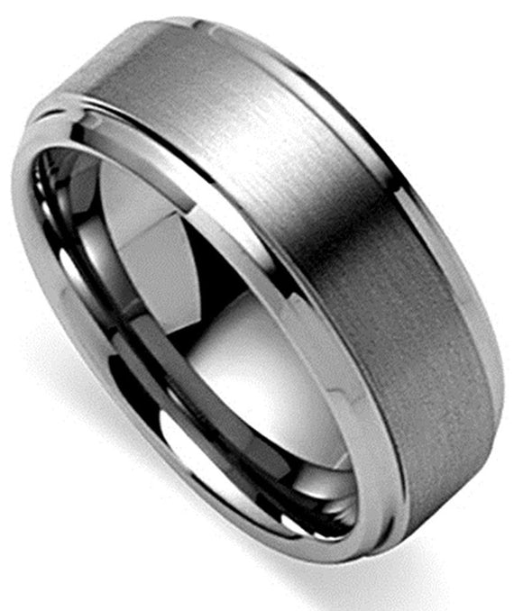 King Will BASIC Men's Tungsten Ring 8mm  Matte Brushed Wedding Band