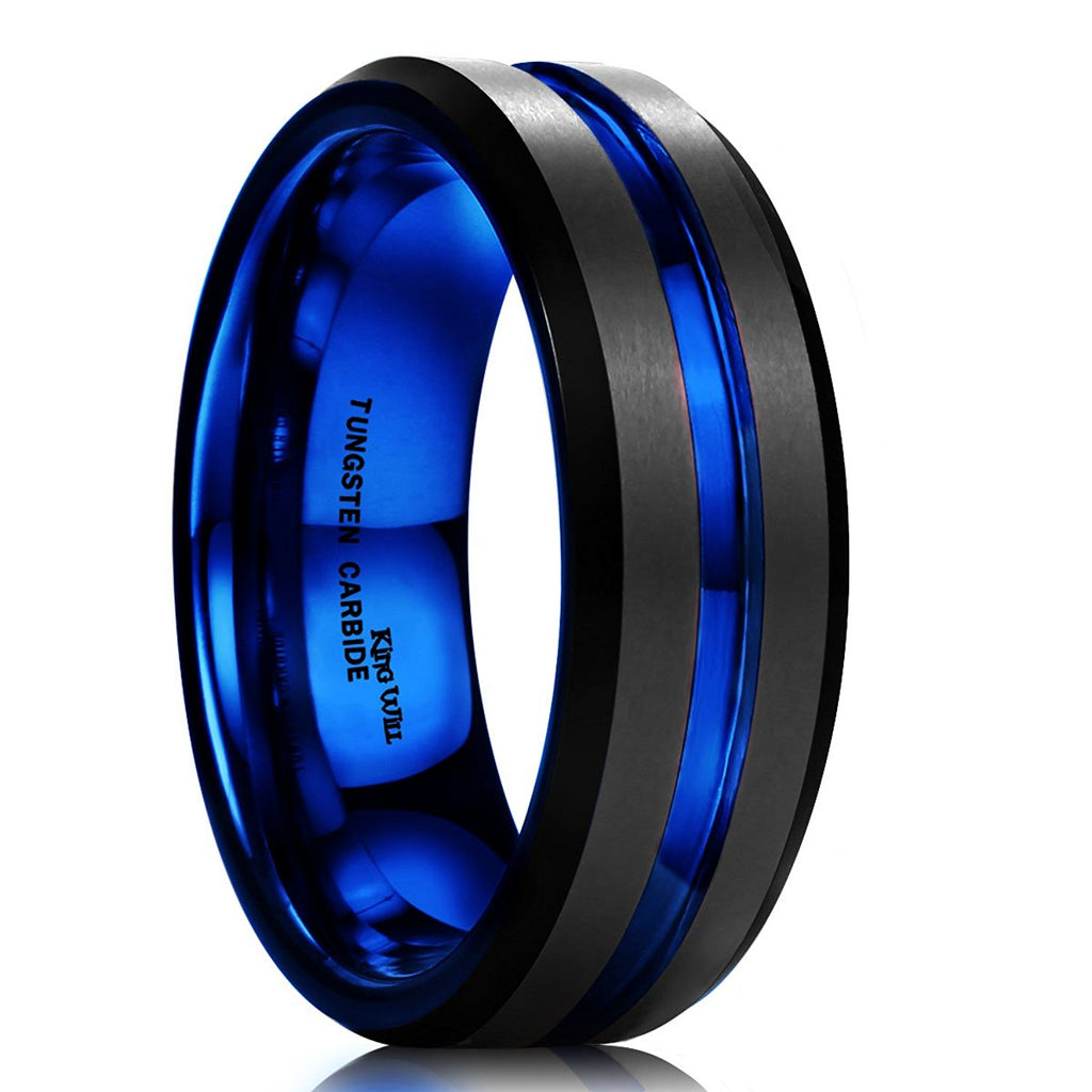 from jewelry domed fish rings in item bands wedding shardon s laser black band ring men tungsten ip for engagement