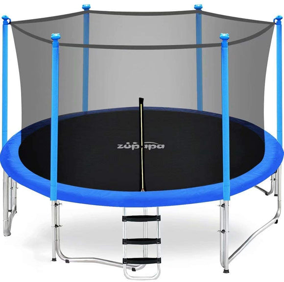 Zupapa Safump 12' Trampoline With Safety Enclosure