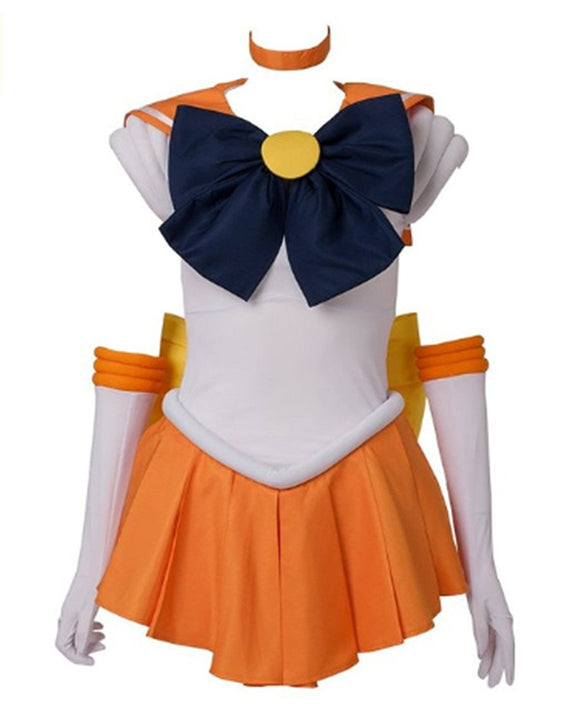 Another Me Women?s Costume Sailor Moon Minako Aino Venus Cosplay Outfit Uniform Dress Suit Female