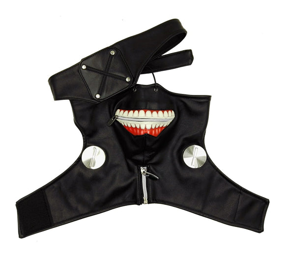 Sale! AnotherMe Tokyo Ghoul Ken Kaneki Season 1 Black Zipper Mask Party Cosplay Accessories High Quality Prop