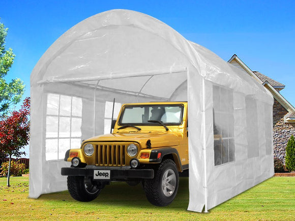 Quictent 20'x10' Heavy Duty Portable Carport Canopy Party Tent White