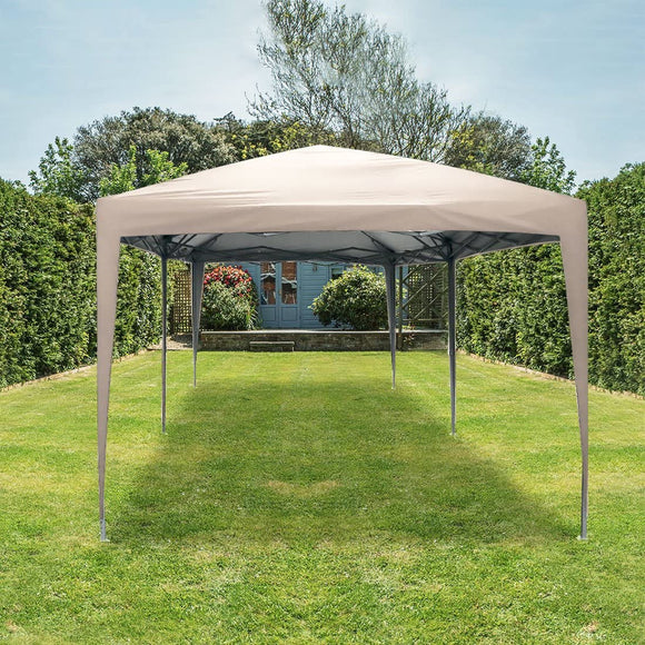 Quictent No-Side 10' x 20' Heavy Duty Pop Up Canopy-Beige