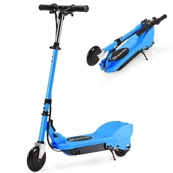 MAXTRA UL Certified Upgraded E100 Adjustable Handlebar Folding Electric Scooter-Blue