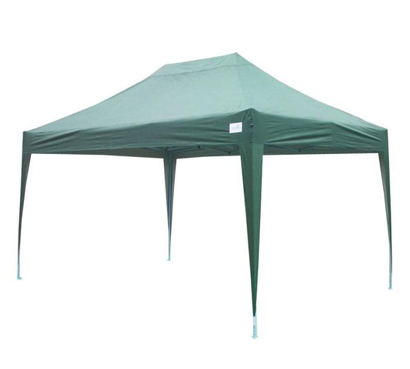 Quictent 10' x 15' Pyramid Pop Up Canopy (No Sides)-Green