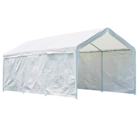 Quictent 20' x 10' Heavy Duty Carport Gazebo Canopy Party Tent Garage Car Shelter White